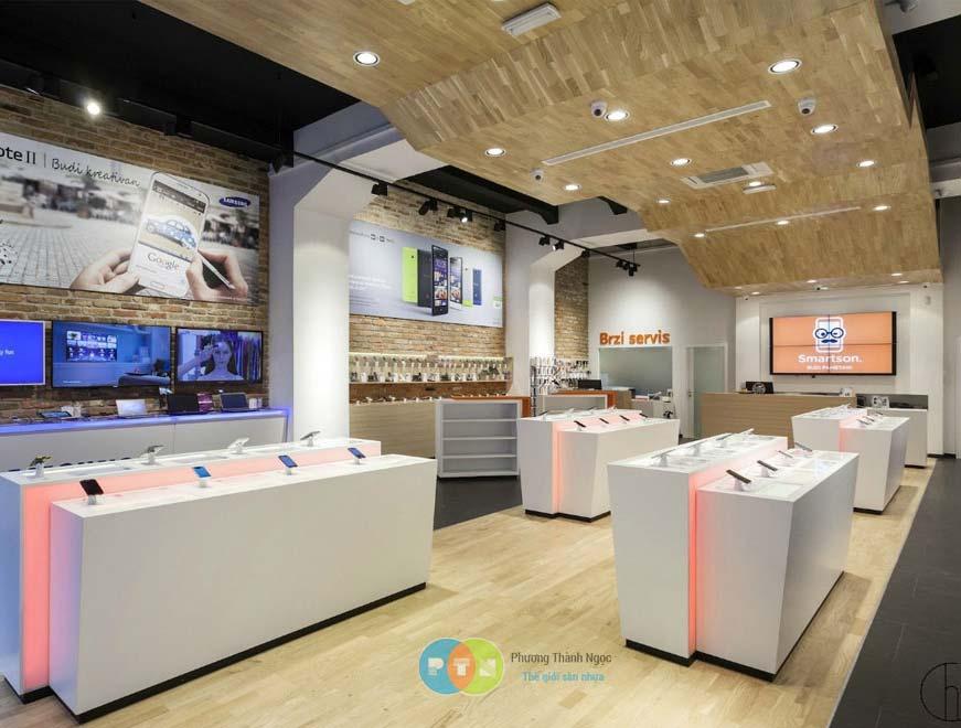 Ứng dụng sàn nhựa shop - cửa hàng
