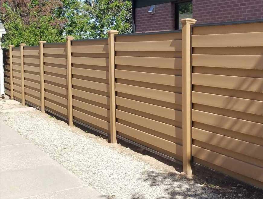 Hàng rào gỗ nhựa ngoài trời
