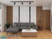Tường bằng gỗ nhựa thiết kế hiện đại sang trọng