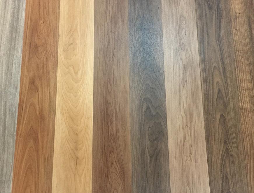 Mẫu sàn nhựa giả gỗ có keo dán