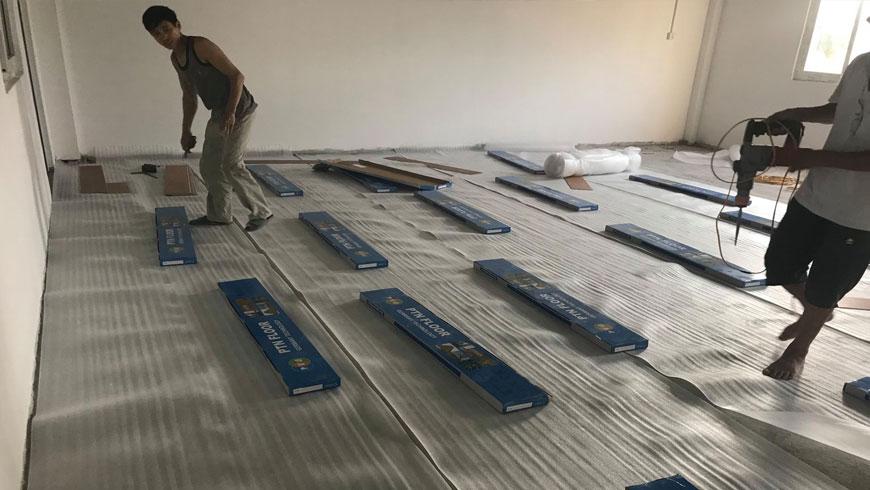 quy trình lắp đặt ván sàn nhựa