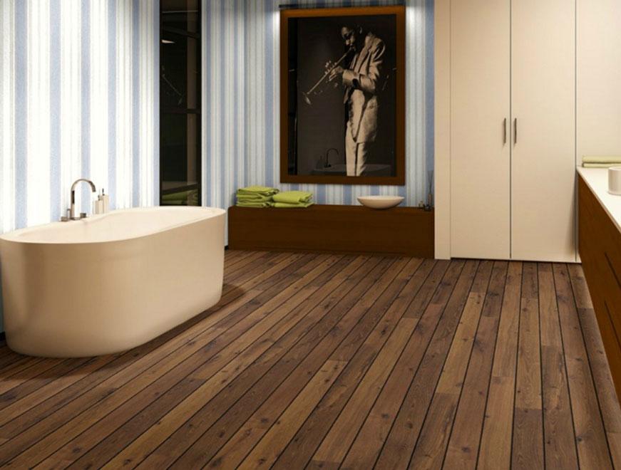 Sàn nhựa trải sàn nhà tắm có khả năng kháng nước tốt