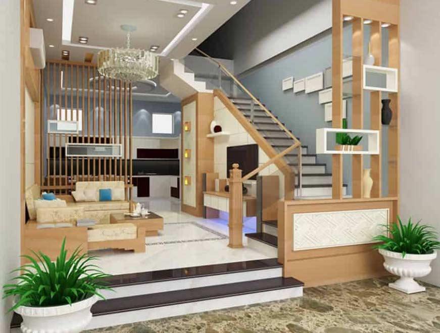 Lam gỗ nhựa cầu thang