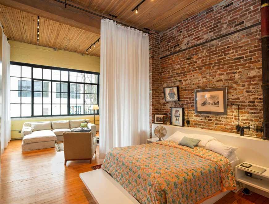 Vách ngăn phòng ngủ bằng vải