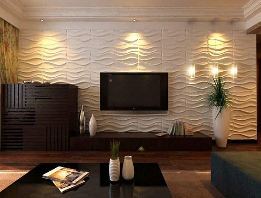 Sử dụng tấm nhựa ốp tường giả gỗ tiết kiệm chi phí