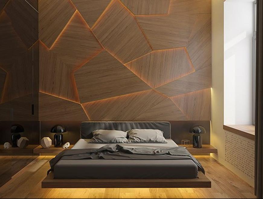 ốp tường bằng nhựa vân gỗ