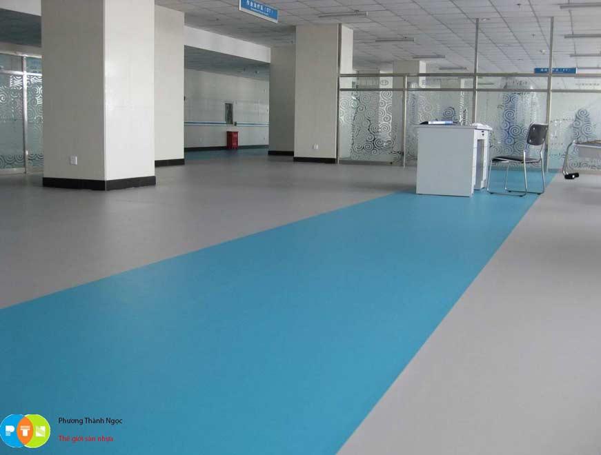 Sàn vinyl kháng khuẩn sử dụng trong bệnh viện